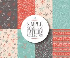 Pattern Collection Unique Simple Seamless Pattern Collection With Christmas Templates