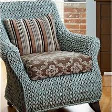 Wicker furniture painted with Chalk Paint by Annie Sloan