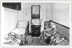 Perfect Just To Show How Large And Detailed The Second Class Bedrooms Were. An  Accurate Drawing Of A Second Class Single Berth Cabin. Courtesy Of  Mediastorehouse. ...