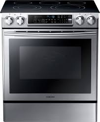 samsung 5 8 cu ft self cleaning slide in electric convection range stainless steel ne58f9500ss best