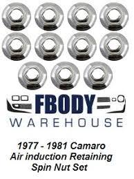 camaro air cleaners parts 1977 1981 camaro air induction retaining nut set