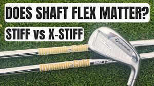 Does Iron Shaft Flex Make A Difference Extra Stiff Vs Stiff X100 Vs S300
