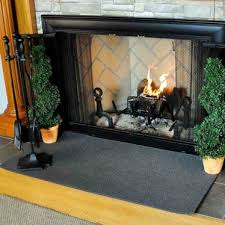 4 rectangle charcoal guardian fireplace rug