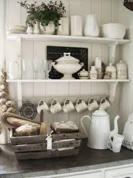 Country Style Shelves To Store Glasswares And Porcelains Is The Country Style Shelves