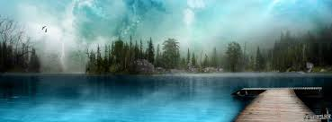 Besonderer Bergsee Kostenlose Titelbilder Und Facebookgrüße Für