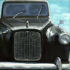 classic black austin taxi vintage car