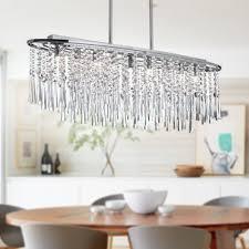 modern oval crystal chandelier island pendant ceiling light