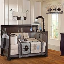 teddy bear crib sheet amazon com babyfad teddy bear 10 piece baby crib bedding set baby
