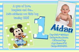 mickey mouse st birthday invitations invitations design baby mickey mouse 1st birthday invitation wording