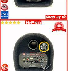 Loa bluetooth Crown 5 2021 H2PRO bass 13-40W đa năng USB-Thẻ nhớ-radio (1  loa), loa gầm ô tô cao cấp nghe nhạc hay điện 220V-110V-12V