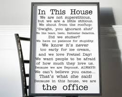 The office posters Threat Level The Office Poster Office Tv Show Print In This House Office Poster Funny Quotes Office Fan Poster Michael Scott Jim Dwight Dunder Mifflin Teepublic The Office Poster Etsy