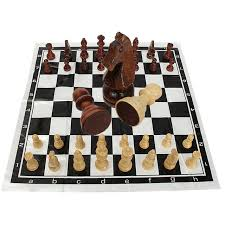 Wooden Board Game Sets 100 Pieces International Chess Games Set Funny Folding Folable 18