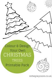 Printable Christmas Tree Colour And Design Your Own Christmas Tree Printables In