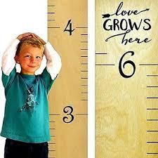 Birch Plywood Grade Chart Nob Growth Chart Art Wooden Ruler Height Chart For Kids Naked Birch Black Let 769923984100 Ebay