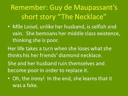 essay on the necklace by guy de maupassant the necklace by guy de maupassant essay admission aid whitman college the necklace by guy de