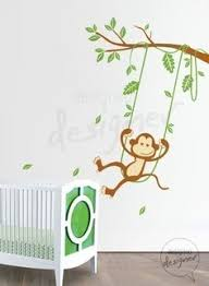 Small Picture monkey nurery themes Nursery Wall Decal Monkey and giraffe