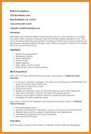 Professional Medical Resume Cool Loan Processor Resume Elegant Amazing Processor Resume S