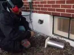 dryer vent installation through block