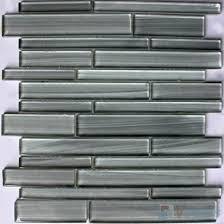 light gray linear hand painted glass mosaic tiles vg hpl98