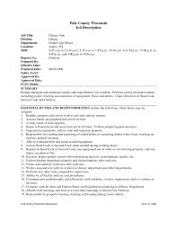 Cute Housekeeping Supervisor Duties Resume Ideas Entry Level