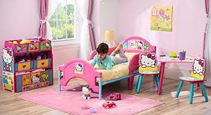 hello kitty bedroom furniture. the frame is decorated with cute hello kitty stickers bedroom furniture e