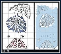 picture of spider web stencil