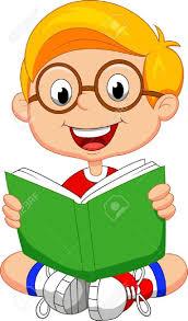 hasil gambar untuk read book cartoon