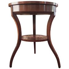 viyet designer furniture tables traditional three legged round side table with shelf