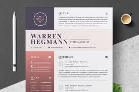 Resume Template Modern Creative Resume Templates Creative Market
