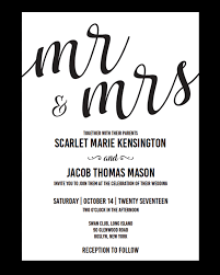 wedding invite template download mr and mrs wedding invitation template download