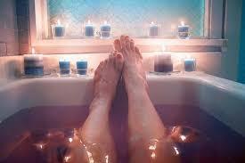 hot bath beauty legs skin health care skin care