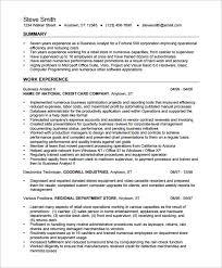 Resume For Business Analyst Musiccityspiritsandcocktail Com