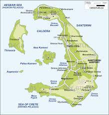 map of santorini  islands miles of isles  pinterest  greek islands