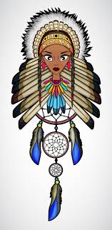 What Native American Tribes Use Dream Catchers Cartoon Of Indian Native American Girl With Dream Catcher Stock 35