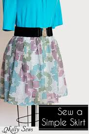 Simple Skirt Pattern Extraordinary Sew A Skirt Easy Fast And Simple Skirt Tutorial Melly Sews