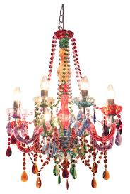 hippie chic colorful gypsy chandelier
