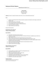 Examples Of Resumes For Restaurant Jobs Best Pin By Gurkirat On 48 Pinterest Resume Examples And Restaurants