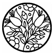 patterned coloring pages. Modren Patterned Circle With Flowers Pattern Coloring Page To Print With Patterned Pages A