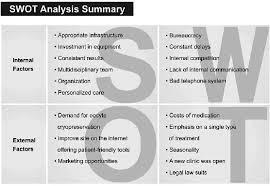 Swot Anaysis Figure 3 Practical Example Of A Swot Analysis Summary Scientific