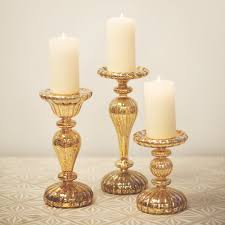 gold mercury candle holders. Unique Holders LED Gold Mercury Candle Holders With L