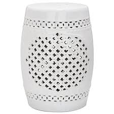 ceramic garden stool cheap. Delighful Cheap Safavieh Castle Gardens Collection Quatrefoil White Ceramic Garden Stool On Cheap 8