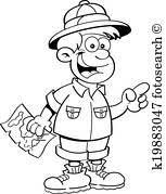漫画 男の子 服を着せられる ように 探検家 クリップアート