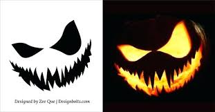 Halloween Carving Patterns Extraordinary Easy Printable Pumpkin Stencils Free Scary Carving Patterns