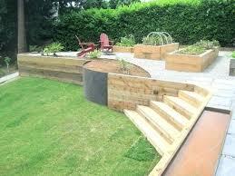 build a timber retaining wall timber build timber sleeper retaining wall
