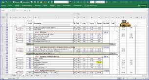 Presupuesto De Obra En Excel Contar