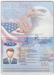 Us Passport Template Psd Usa Passport Template Psd