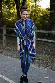 10 Ways to Wear a Plaid Blanket Scarf | Style | Coming Up Roses