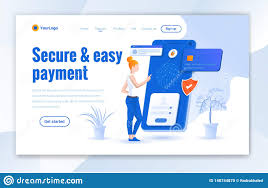 E Payment System Design Secure And Easy Payment Landing Page Design Modern Online