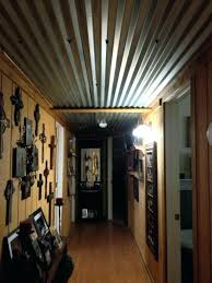 barn tin ceiling corrugated metal ceiling ideas barn tin ceiling in our hallway home design ideas barn tin ceiling