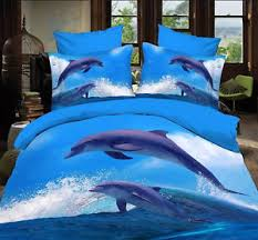 blue white sea dolphin Cotton queen size Quilt / duvet Cover sheet ... & Image is loading blue-white-sea-dolphin-Cotton-queen-size-Quilt- Adamdwight.com